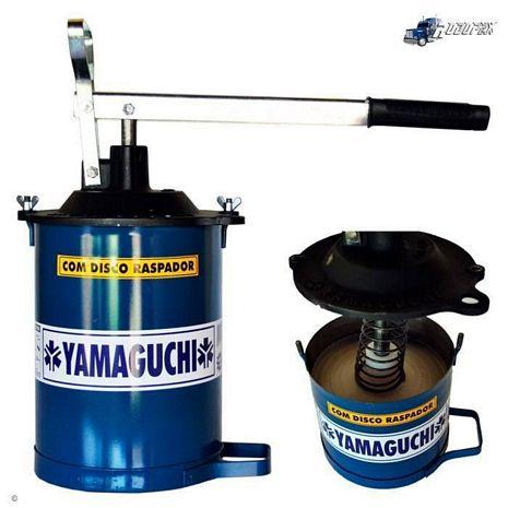 BOMBA GRAXA 4 KG YAMAGUCHI COM DISCO RASPADOR MANGUEIRA 1,50 MT.