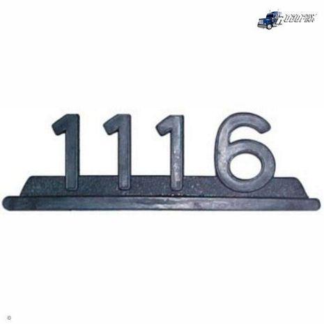 EMBLEMA PLASTICO PRETO MB 1116