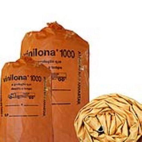 VINILONA 1000 10,00 X 5,00 METROS LARANJA E PRETA