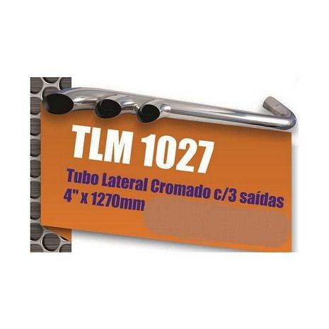 "TUBO LATERAL CROMADO C/ 3 SAIDAS 4"" X 1270 MM"