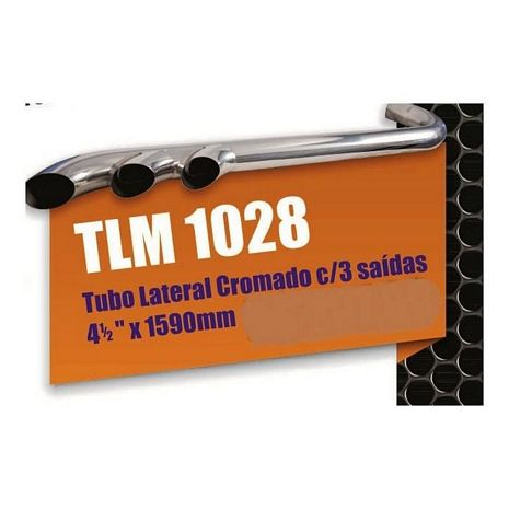 TUBO LATERAL CROMADO C/ 3 SAIDAS 4 1/2 X 1590