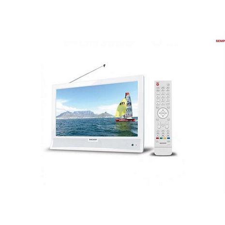 "TV LED 14"" LE1474W ACDC, HD DTV HDMI USB BRANCA, SEMP TOSHIBA"