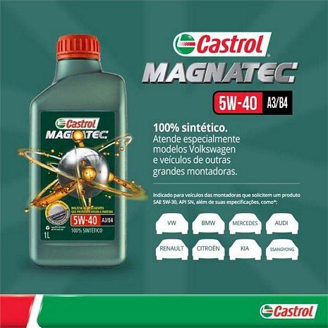 OLEO CASTROL SINTETICO  MAGNATEC 5W40 1 L.